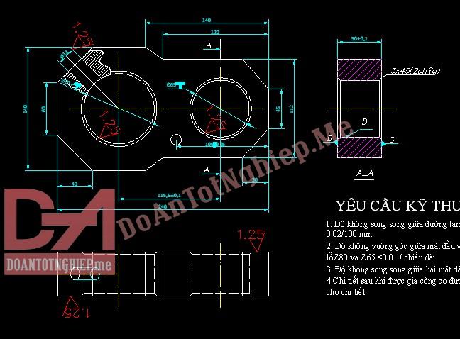Thiết kế quy trình gia công chi tiết càng C11