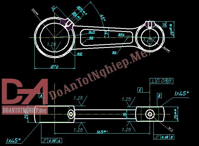 Thiết kế quy trình gia công chi tiết tay biên C4 (T9)