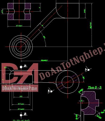 Thiết kế quy trình gia công chi tiết càng gạt C6