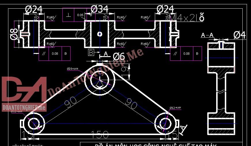 Thiết kế quy trình gia công chi tiết càng C18
