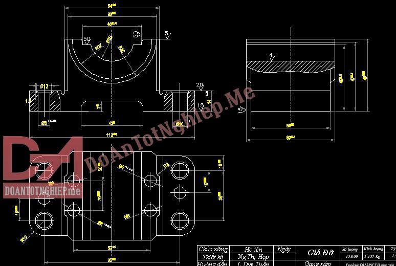 Thiết kế quy trình gia công chi tiết giá đỡ G3