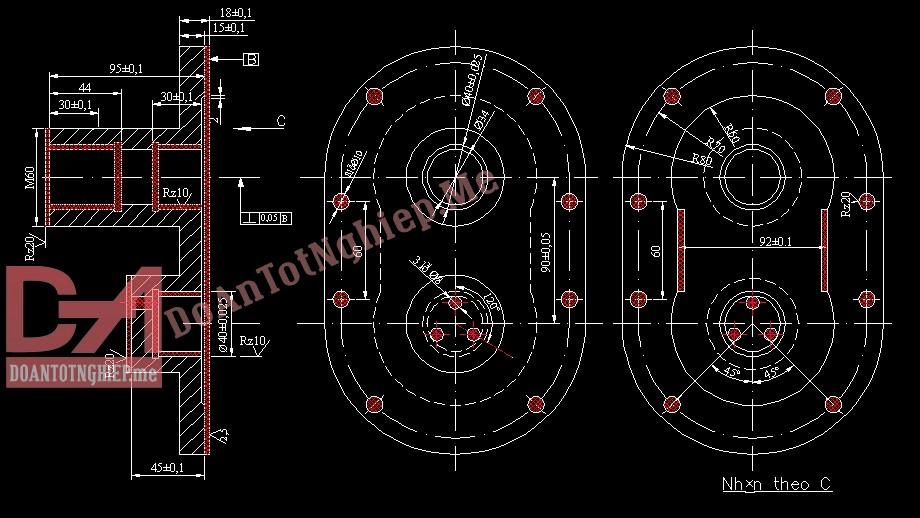 Thiết kế quy trình gia công chi tiết nắp bơm H2