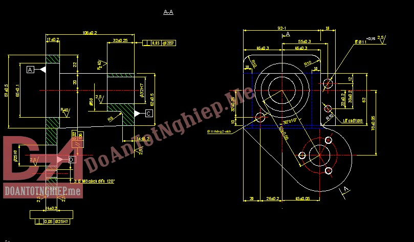 Thiết kế quy trình gia công chi tiết giá đỡ H26