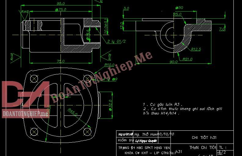 Thiết kế quy trình gia công chi tiết H31