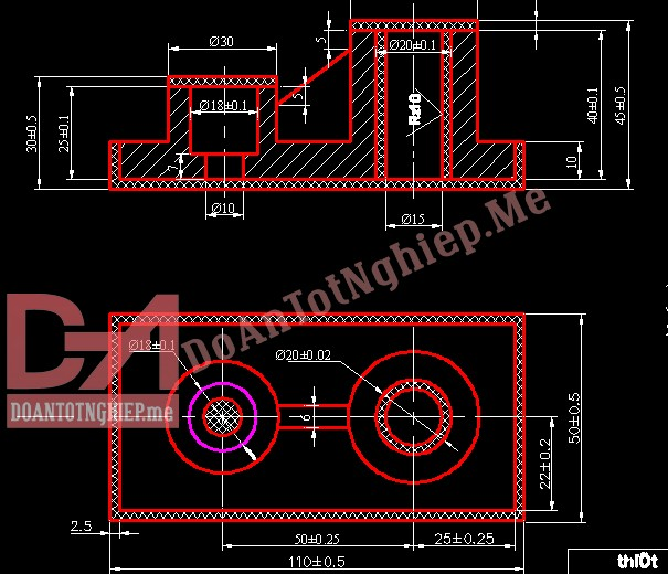 Thiết kế quy trình gia công chi tiết chân đế H34