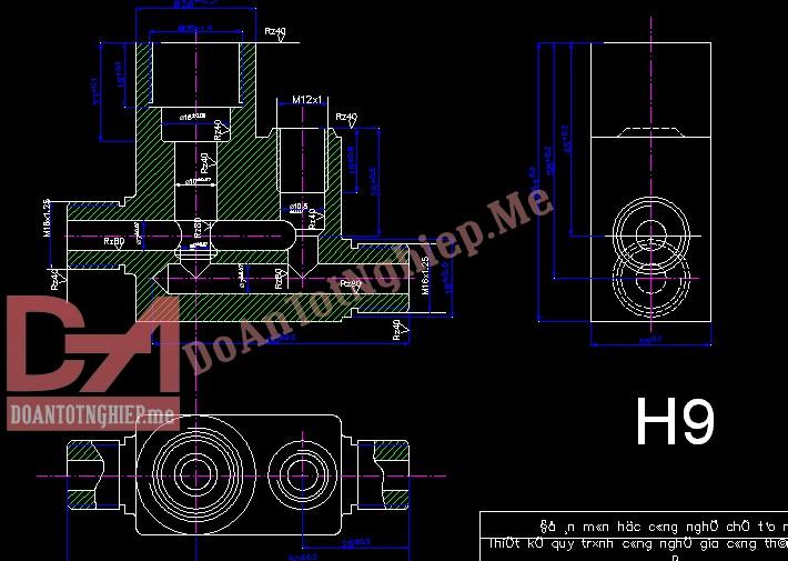 Thiết kế quy trình gia công chi tiết thân van điều áp H39