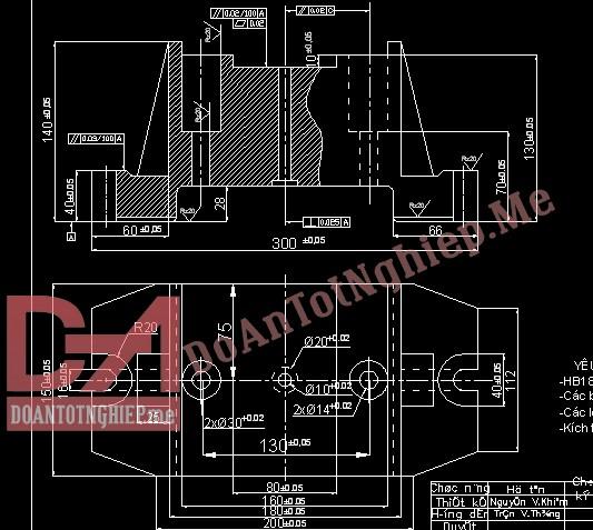 Thiết kế quy trình gia công chi tiết thân đồ gá H41