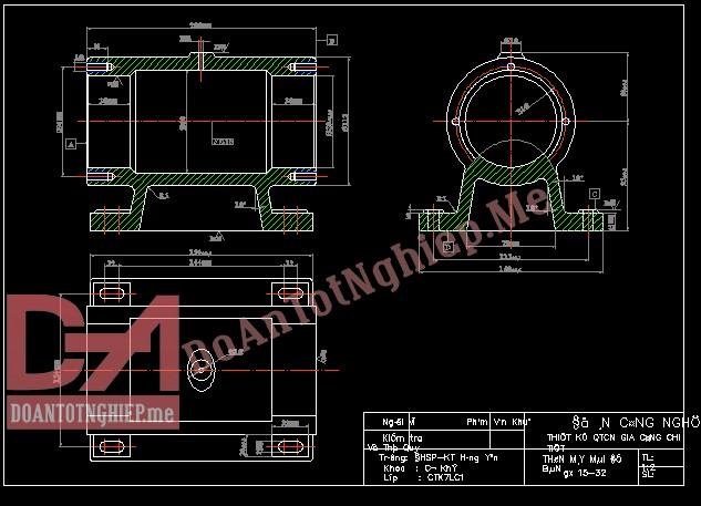 Thiết kế quy trình gia công chi tiết thân máy mài để bàn H43