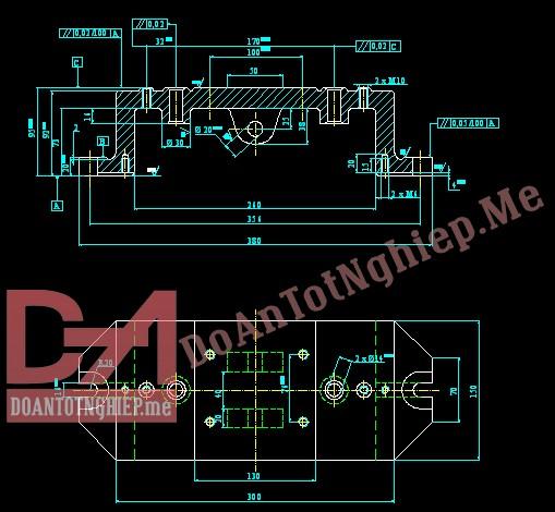 Thiết kế quy trình gia công chi tiết thân đồ gá H6