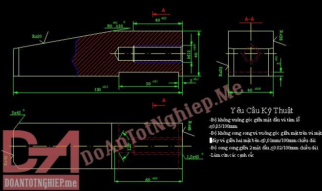 Thiết kế quy trình gia công chi tiết chêm T2
