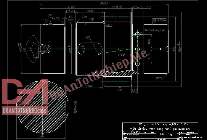 Thiết kế quy trình gia công chi tiết trục (T4) T12
