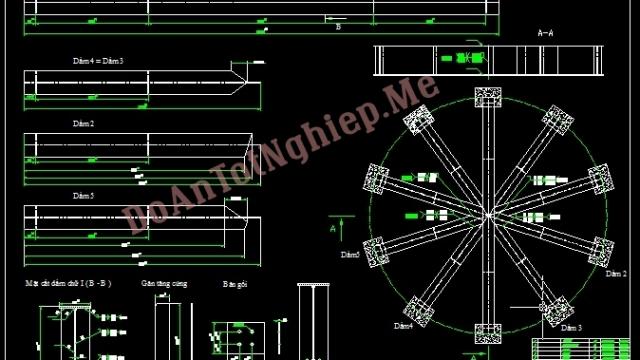 Tính toán, thiết kế hệ thống dầm chịu lực cho Bồn chứa