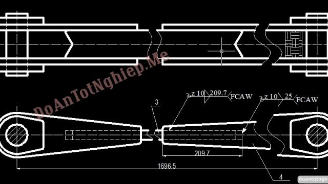 Thiết kế quy trình công nghệ hàn để chế tạo kết cấu Càng chống xe ben