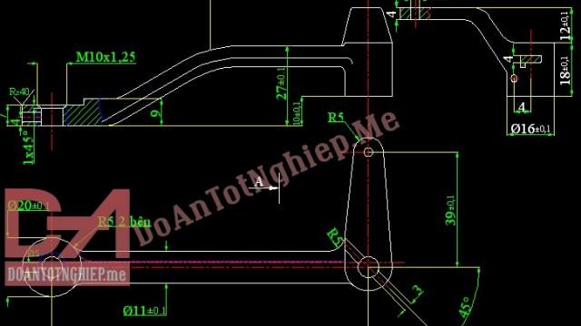 Thiết kế quy trình gia công chi tiết càng điều tốc C14