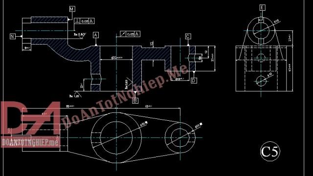 Thiết kế quy trình gia công chi tiết con lăn con cóc C5