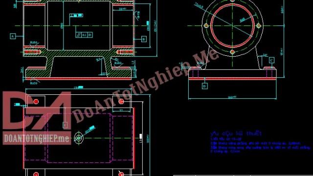 Thiết kế quy trình gia công chi tiết thân máy mài để bàn H13