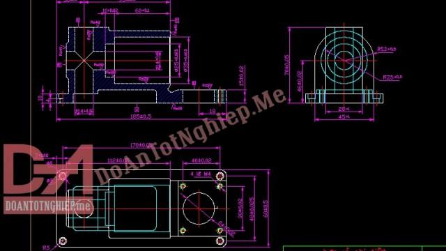 Thiết kế quy trình gia công chi tiết thân đồ gá H20