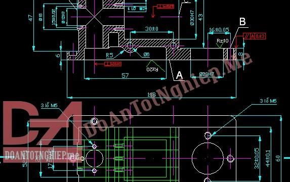 Thiết kế quy trình gia công chi tiết thân thủy lực H8