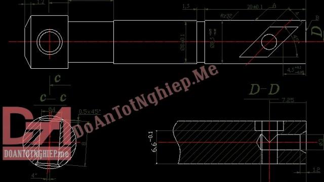 Thiết kế quy trình gia công chi tiết Piston vòi phun bơm cao áp Diezel D12 (T5)