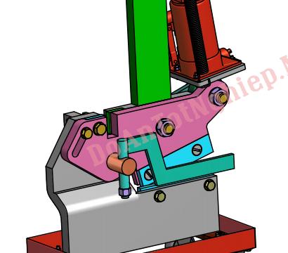 Cấu tạo và mô phỏng hoạt động máy cắt thép dùng kích 10 tấn