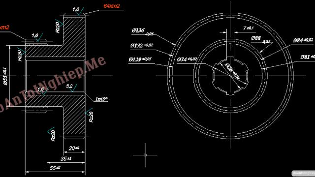 Tìm hiểu đặc điểm gây hỏng bánh răng và thiết kế quy trình sửa chữa chế tạo bánh răng bậc Z64 và Z40 trong hộp tốc độ máy tiện T6M16