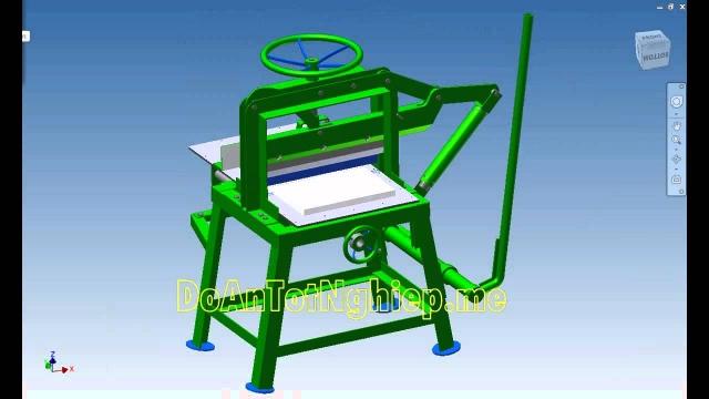 Mô phỏng hoạt động máy xén giấy