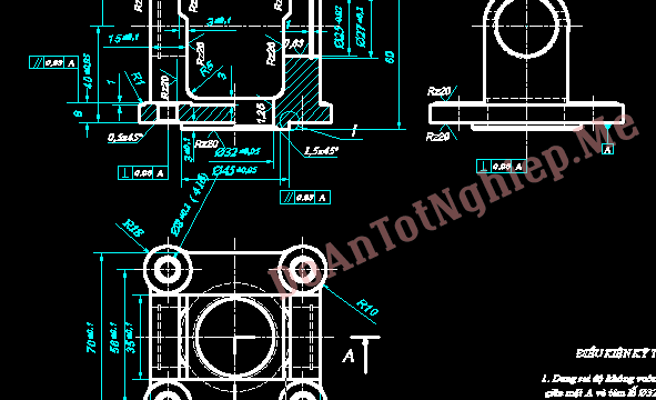 Thiết kế quy trình gia công chi tiết gối đỡ treo