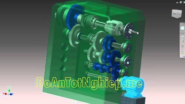 Cấu tạo, mô phỏng hoạt động hộp tốc độ máy phay 6H82. Gia công bánh răng