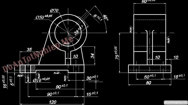 Thiết kế quy trình công nghệ gia công chi tiết gối đỡ
