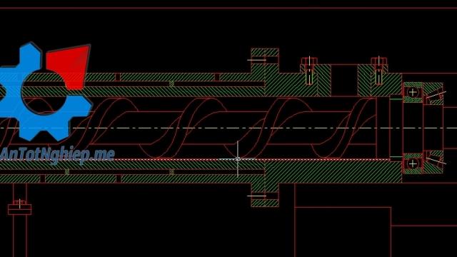 Thiết kế máy khóet ống bao trục chân vịt tàu thủy