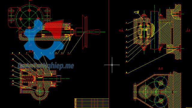 Thiết kế máy mài phẳng M7120A
